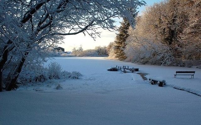 Kirkbride Pond Frozen Over