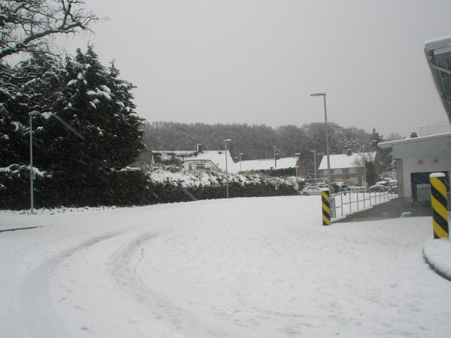 Looking from Lidl's car park towards Stockheath Road