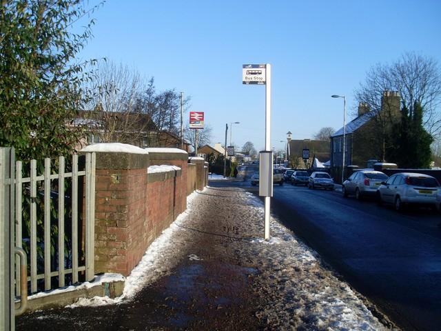 High Street passes Neilston station