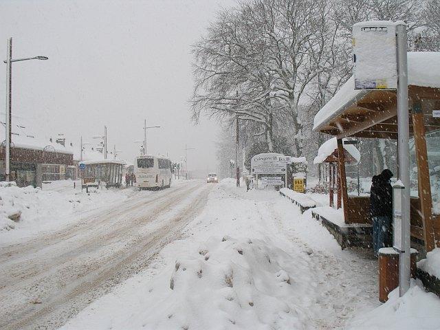 Bus stop, Aviemore