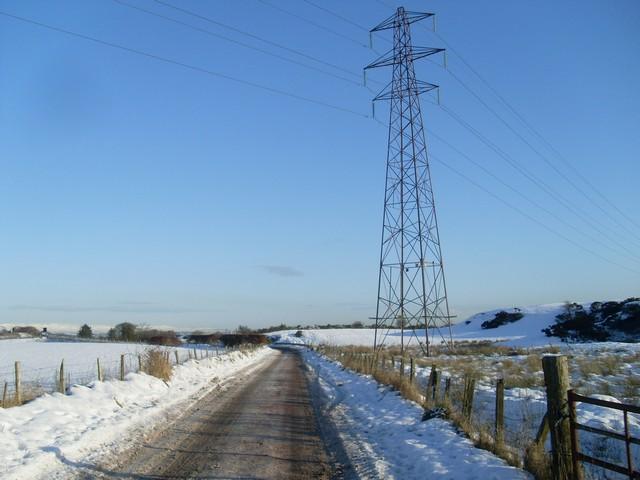 Pylon overlooks Springhill Road