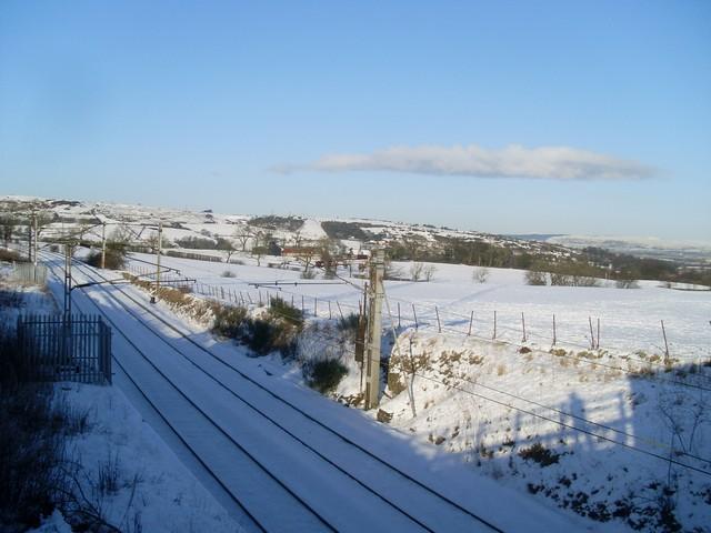 Railway line south of Barrhead