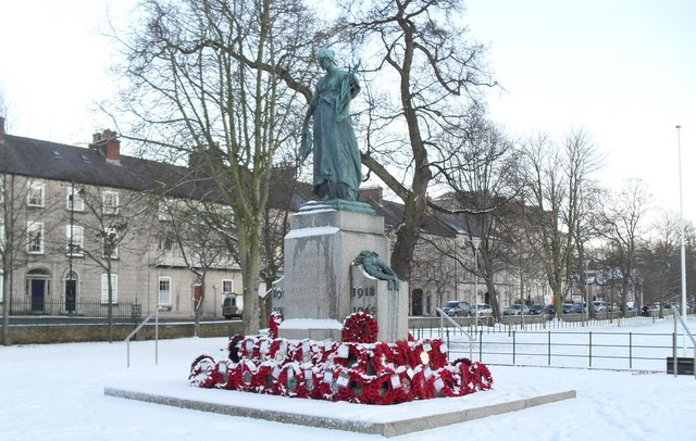 Snow at the War Memorial, Armagh