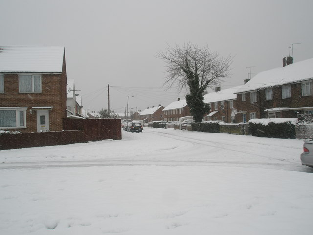 Looking from Colemore Square into Catherington Way