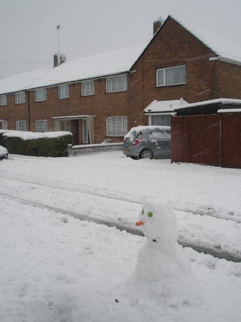 Snowman in Kingsworthy Road