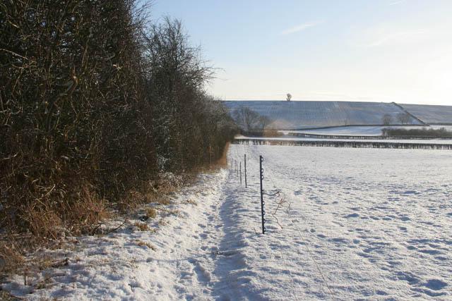 Public footpath to Bottom Farm
