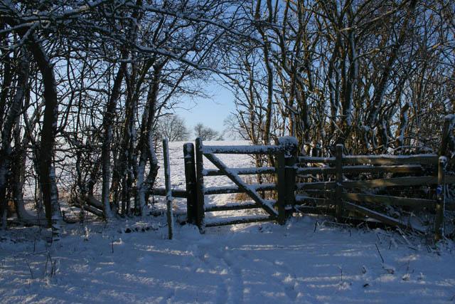 Gate on public footpath