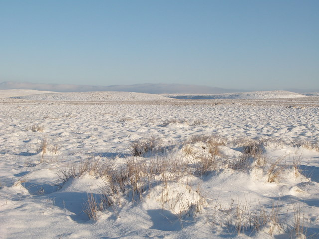Snowy moorland southeast of the Foumart Hills