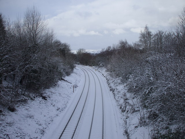 Railway line, Caerphilly