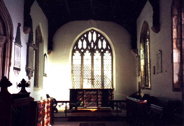 Interior of St. Andrew's, Abbots Ripton, Cambridgeshire