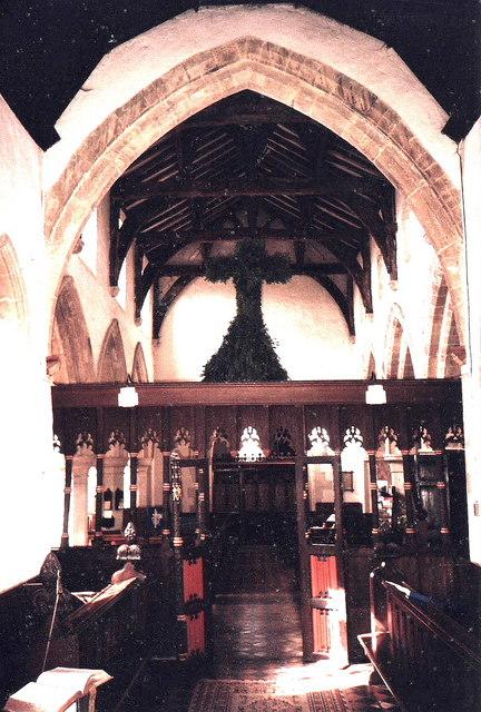 Interior of Charlton on Otmoor, Oxon.