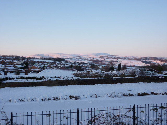 View towards Pendle Hill from Whitpark Grove