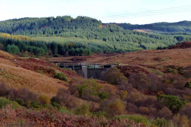 Dam on Craignafeoch Burn