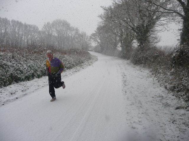 Mid Devon : Country Road & Jogger