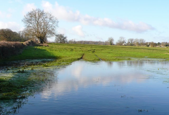 Flooded Fields near Didmarton.