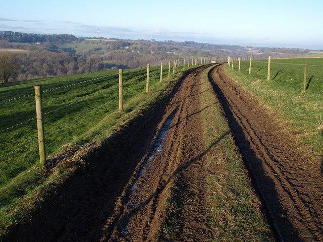 Track north of Tresham