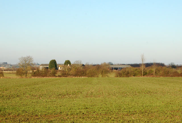 View north to Onley Fields Farm
