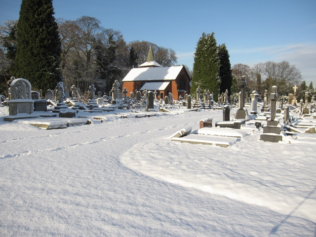 Greek Orthodox church in the snow