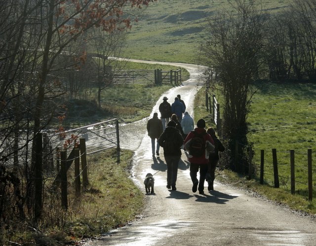 2010 : A merry throng walking on the Cotswold Way
