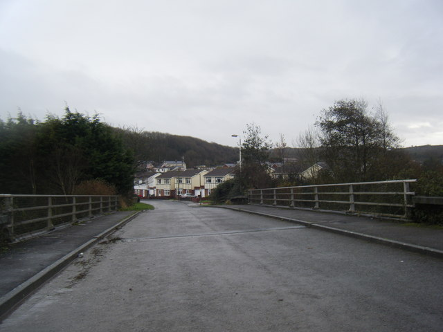 Bridge over South Cornelly by-pass.
