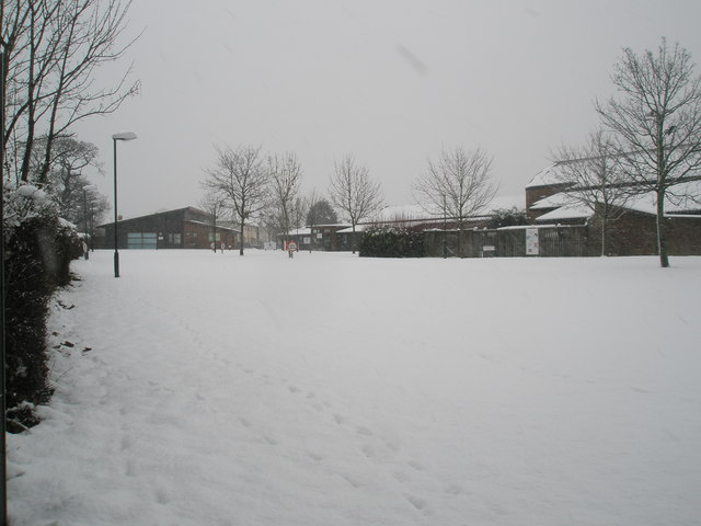 Trosnant schools playground in the snow (2)