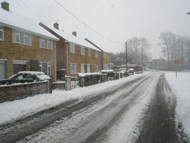 Stockheath Lane after January snow