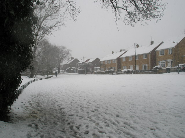 Lone pedestrian in Stockheath Lane