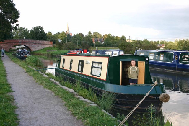 Narrowboats near Braunston