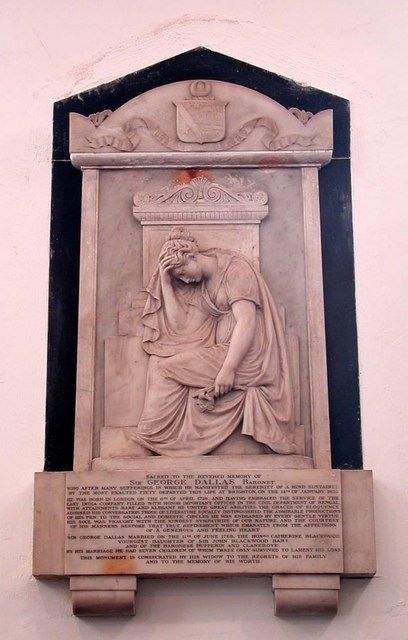 St Andrew, Hove, Sussex - Wall monument