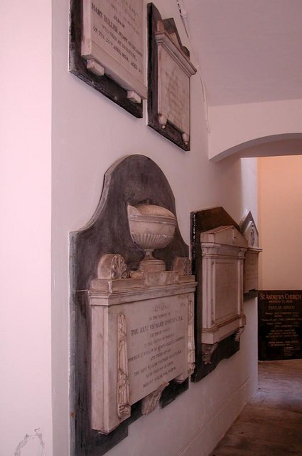 St Andrew, Hove, Sussex - Wall monuments