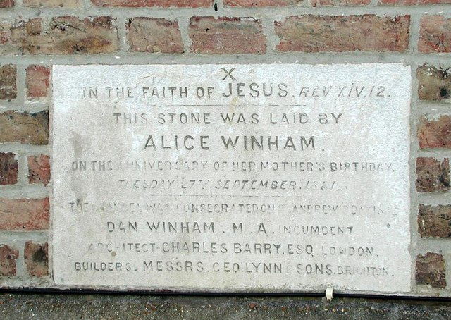 St Andrew, Hove, Sussex - Foundation stone