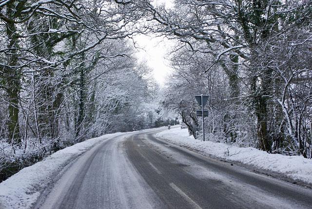 Bonnetts Lane in the snow