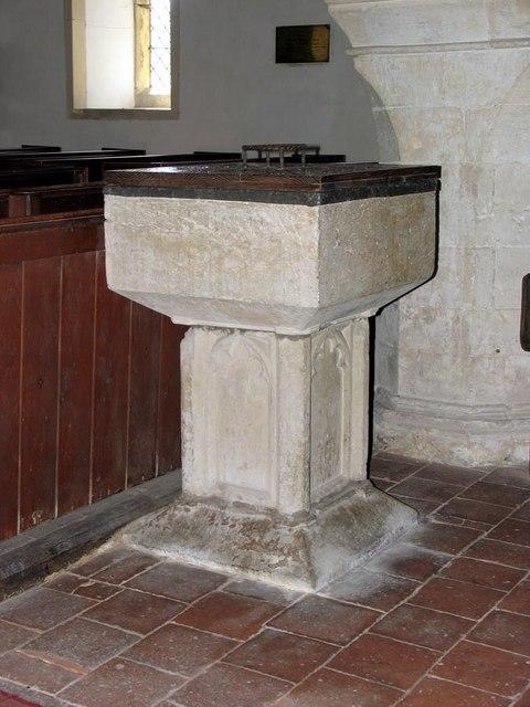 St Andrew, Beddingham, Sussex - Font