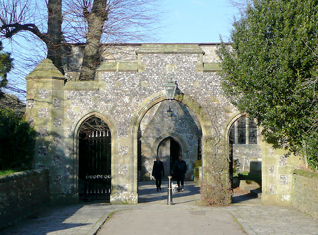 St Nicholas Church gateway, Arundel, West Sussex