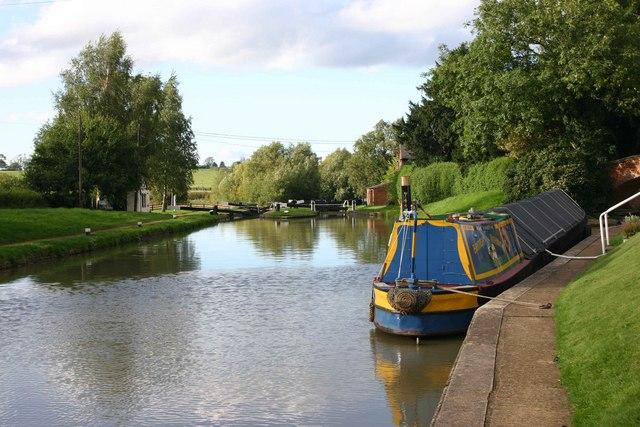 Basin above locks 2 and 3, Oxford Canal, Hillmorton