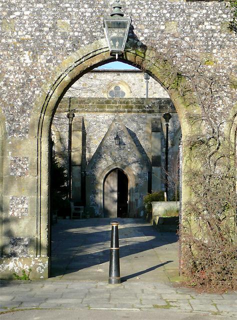 St Nicholas Church gateway, Arundel, West Sussex
