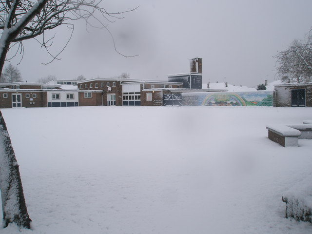 St Thomas More's in the January snow