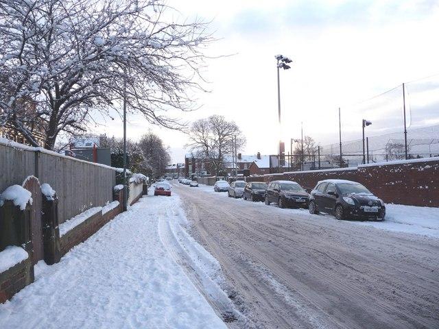 Eastmoor Road, looking south east