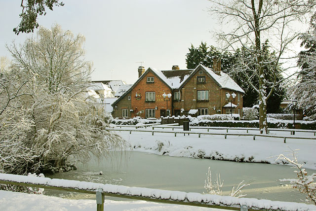 The Manor House in the snow