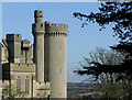 TQ0107 : Arundel Castle (detail), West Sussex by Roger  Kidd
