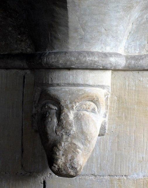 St Andrew, Beddingham, Sussex - Label head
