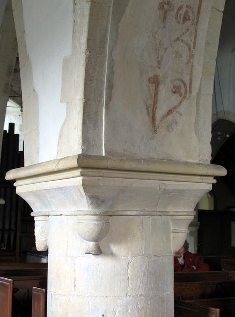 St Andrew, Beddingham, Sussex - Column