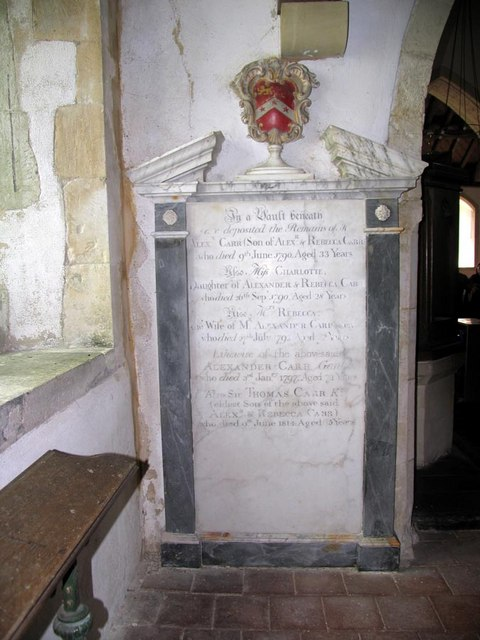 St Andrew, Beddingham, Sussex - Wall monument