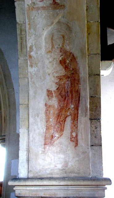 St Andrew, Beddingham, Sussex - Wall painting