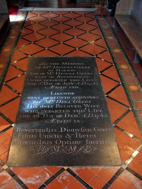 St Mary, Tarring Neville, Sussex - Ledger slab
