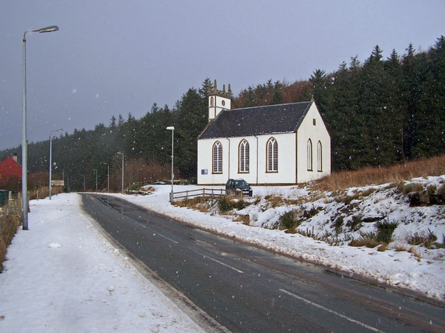Bracadale and Duirinish Parish Church of Scotland in winter