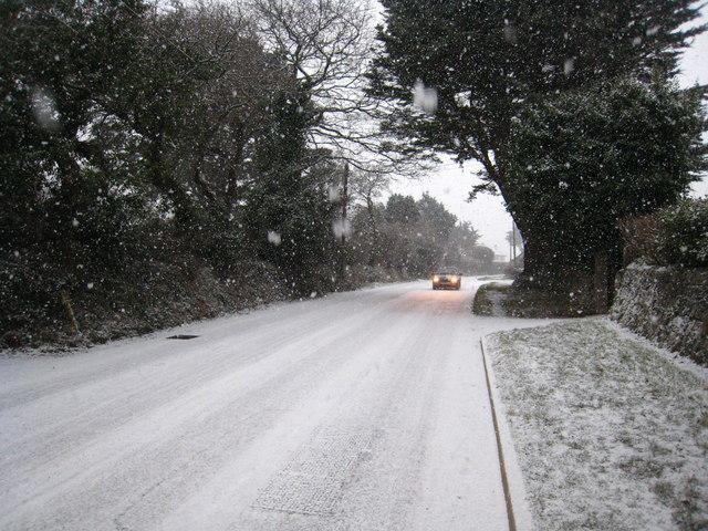 Grove Hill in snow