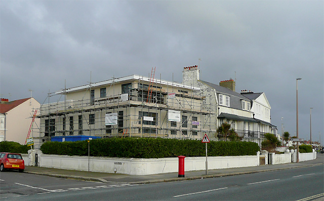New seafront building at East Worthing, West Sussex