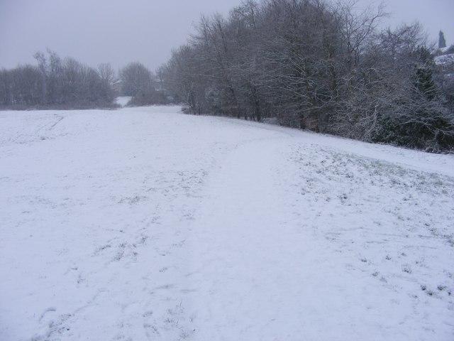 Snowy Path to Sedgley