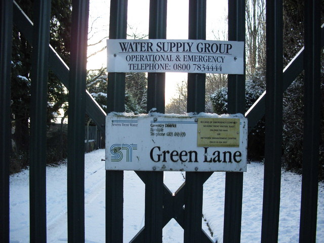 Gates to The Severn Trent Site